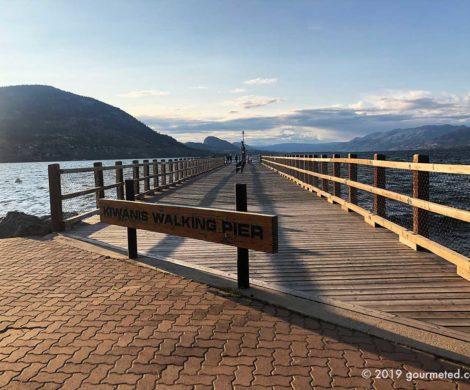 Lakeside boardwalk at Penticton, BC