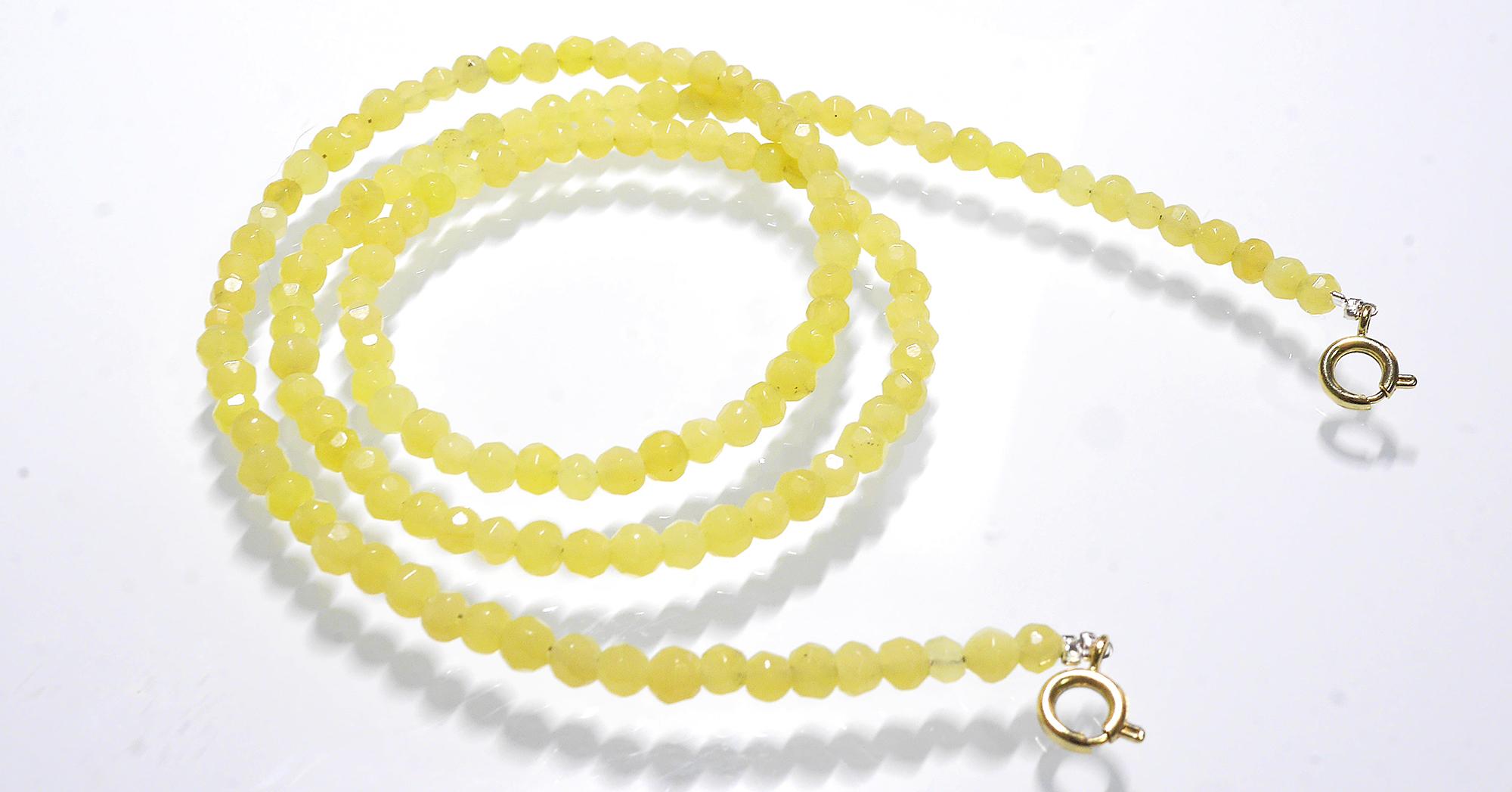 Mask Necklace – Lemon Jade  (Limited Edition)